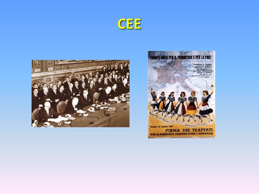 CEE ….e il Trattato Costitutivo della Comunità Economica Europea (CEE).