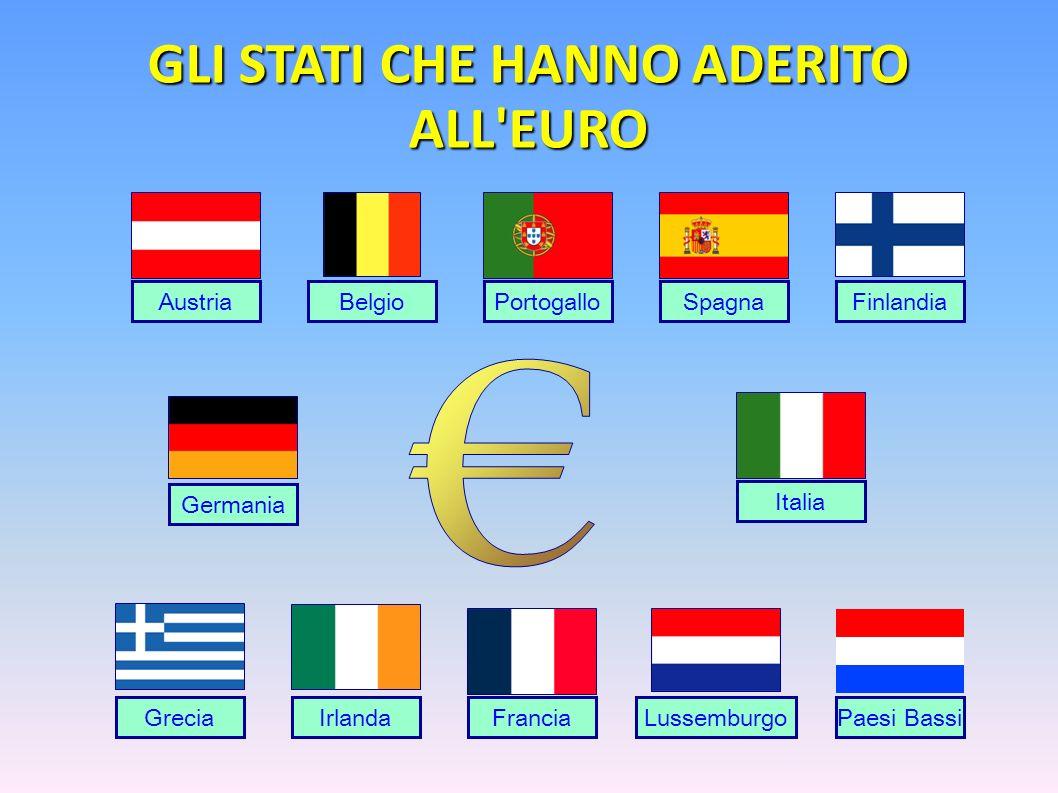 GLI STATI CHE HANNO ADERITO ALL EURO