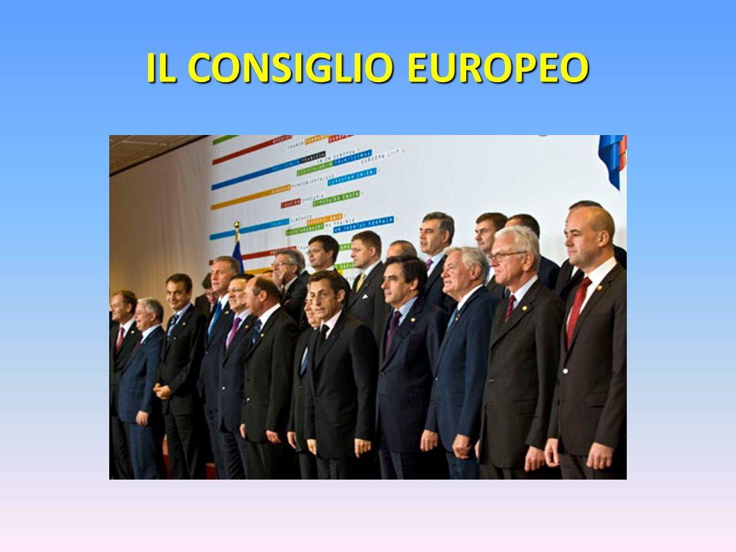 IL CONSIGLIO EUROPEO Il consiglio europeo è composto dai capi di stato e di governo di tutti i Paesi membri: