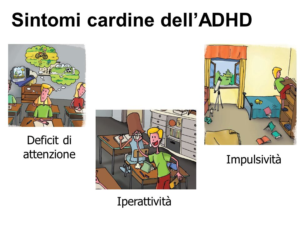 Sintomi cardine dell'ADHD