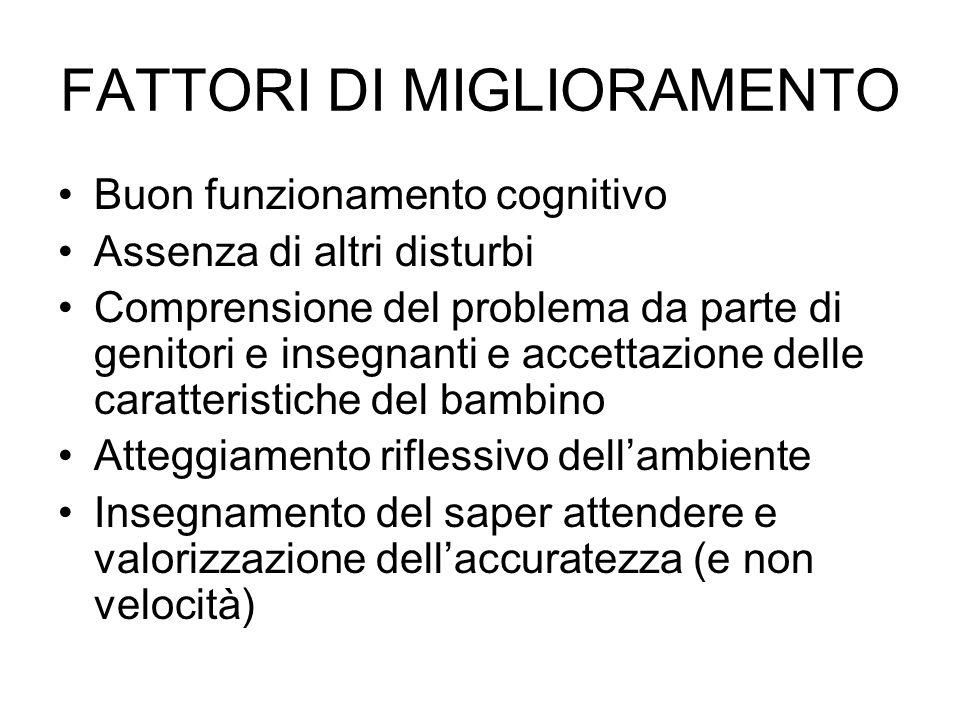 FATTORI DI MIGLIORAMENTO
