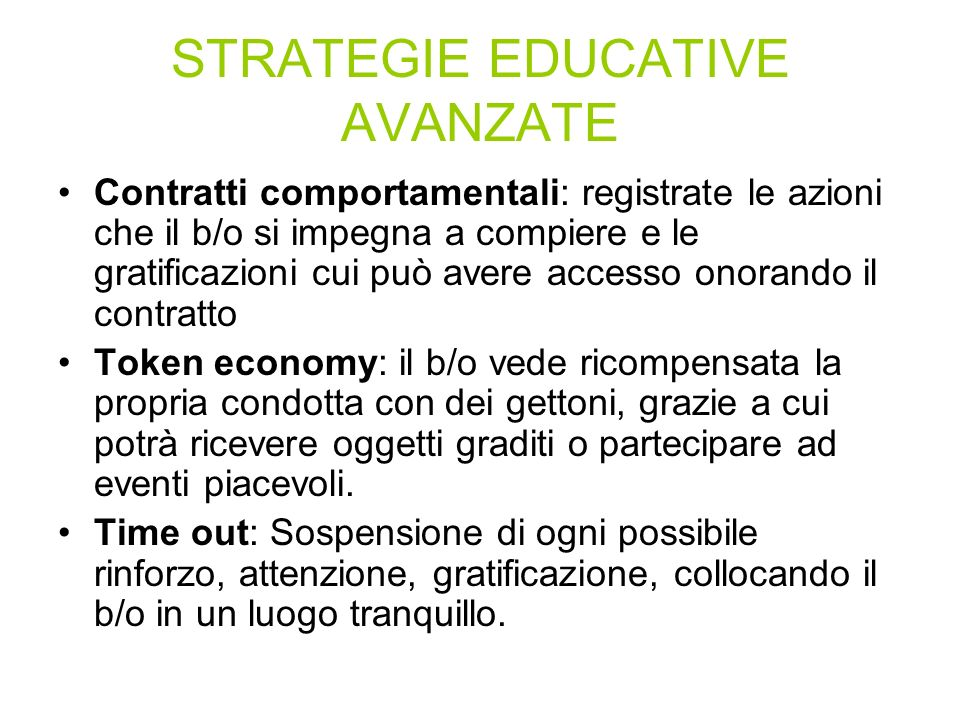STRATEGIE EDUCATIVE AVANZATE