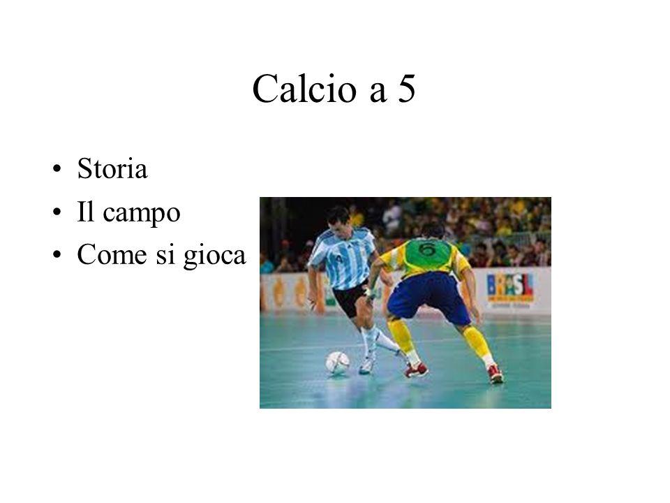 Calcio a 5 Storia Il campo Come si gioca