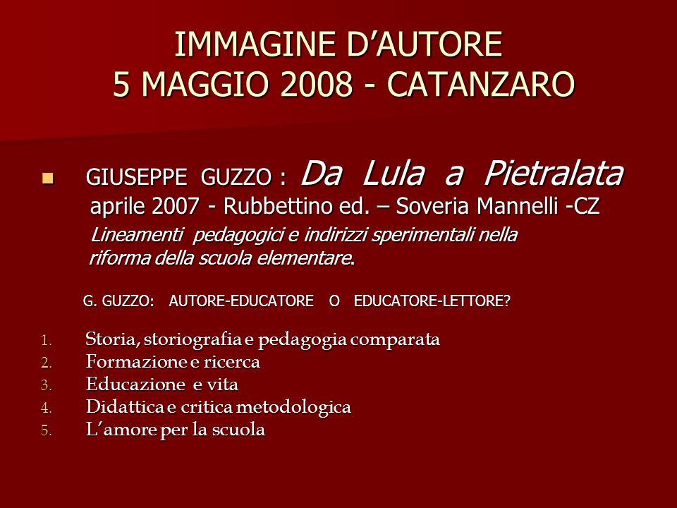 IMMAGINE D'AUTORE 5 MAGGIO 2008 - CATANZARO