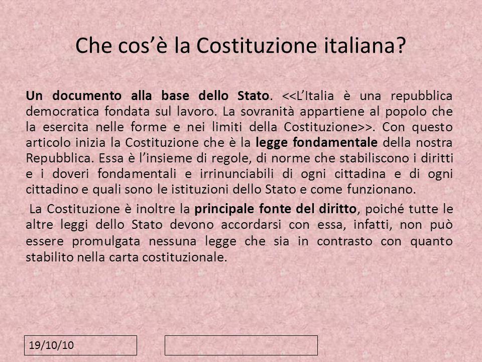 Che cos'è la Costituzione italiana