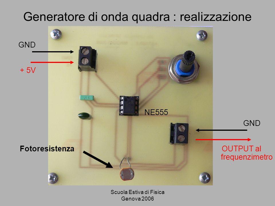Generatore di onda quadra : realizzazione