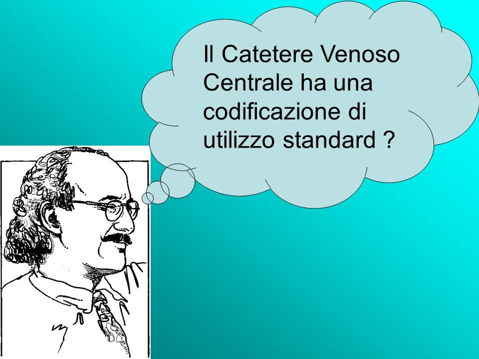Il Catetere Venoso Centrale ha una codificazione di utilizzo standard