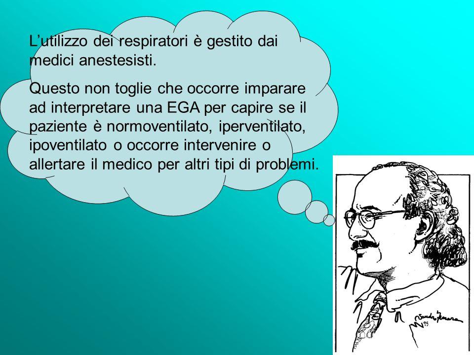 L'utilizzo dei respiratori è gestito dai medici anestesisti.
