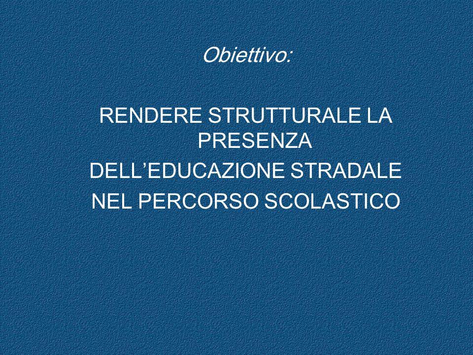 RENDERE STRUTTURALE LA PRESENZA DELL'EDUCAZIONE STRADALE