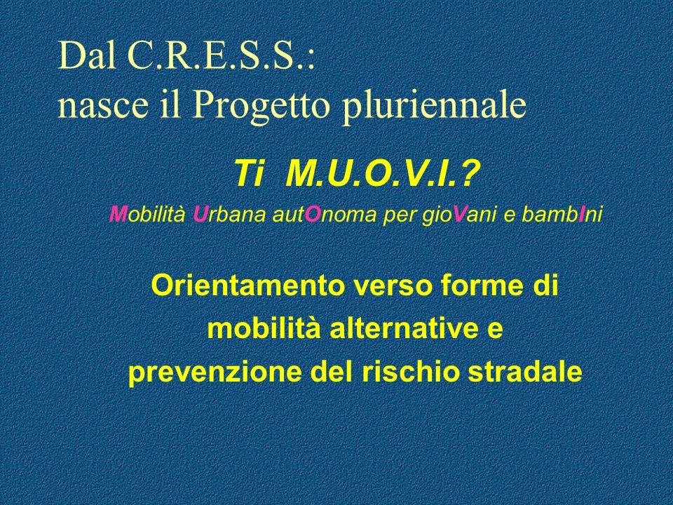 Dal C.R.E.S.S.: nasce il Progetto pluriennale