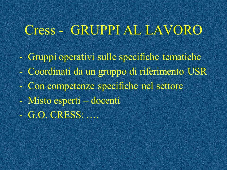 Cress - GRUPPI AL LAVORO