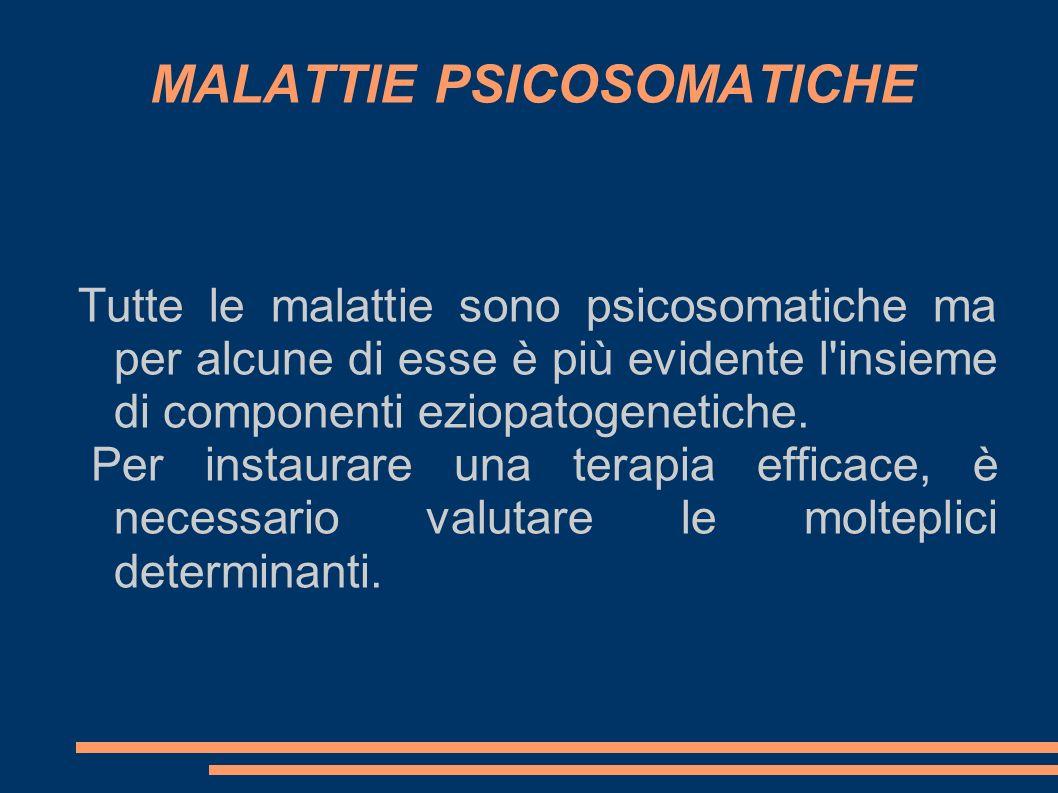MALATTIE PSICOSOMATICHE