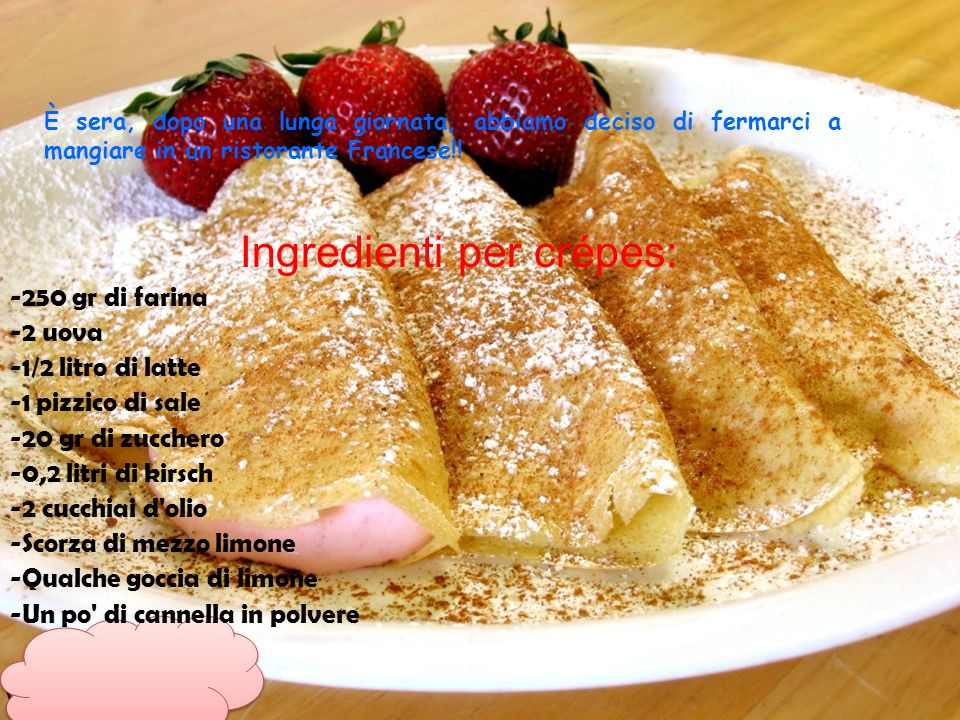 Ingredienti per crépes: