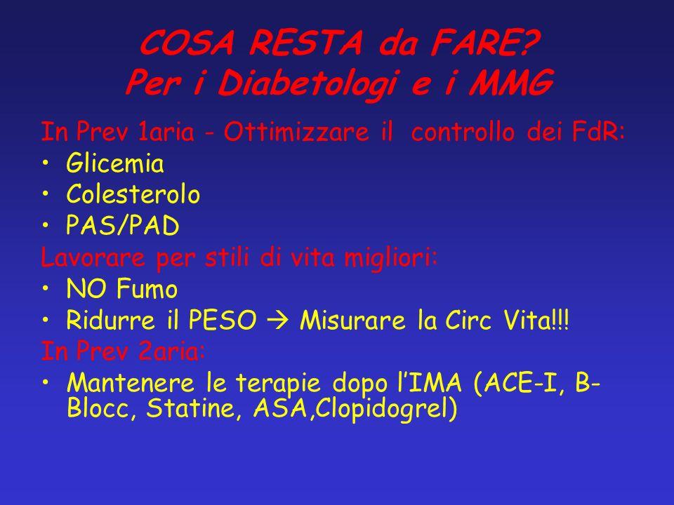 COSA RESTA da FARE Per i Diabetologi e i MMG