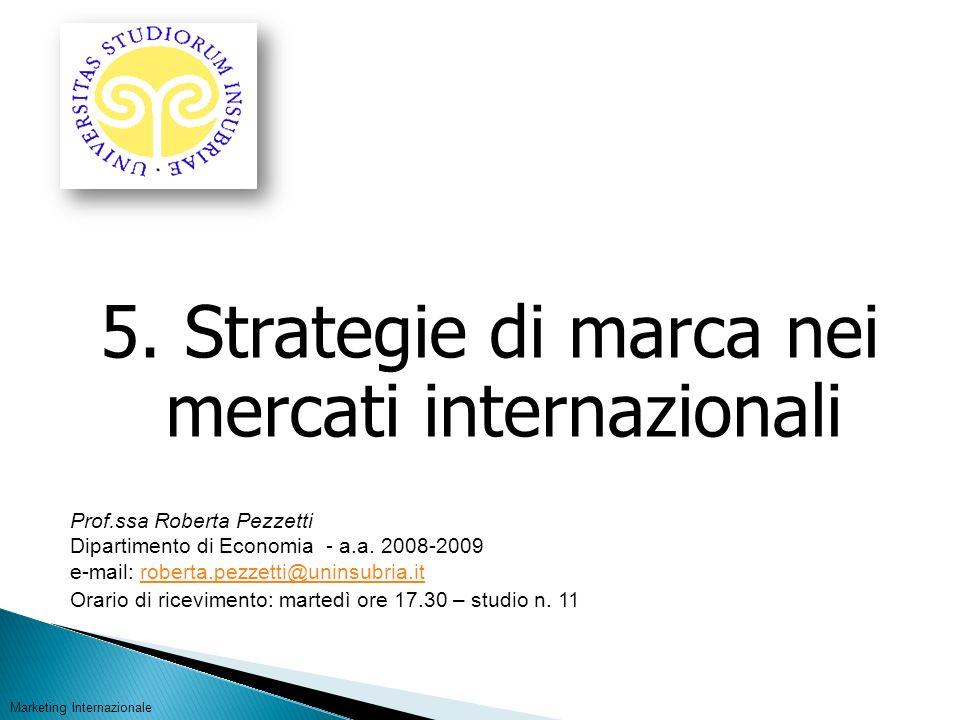 5. Strategie di marca nei mercati internazionali