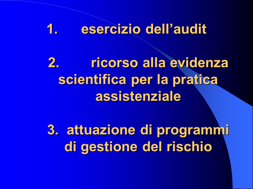 esercizio dell'audit 2.