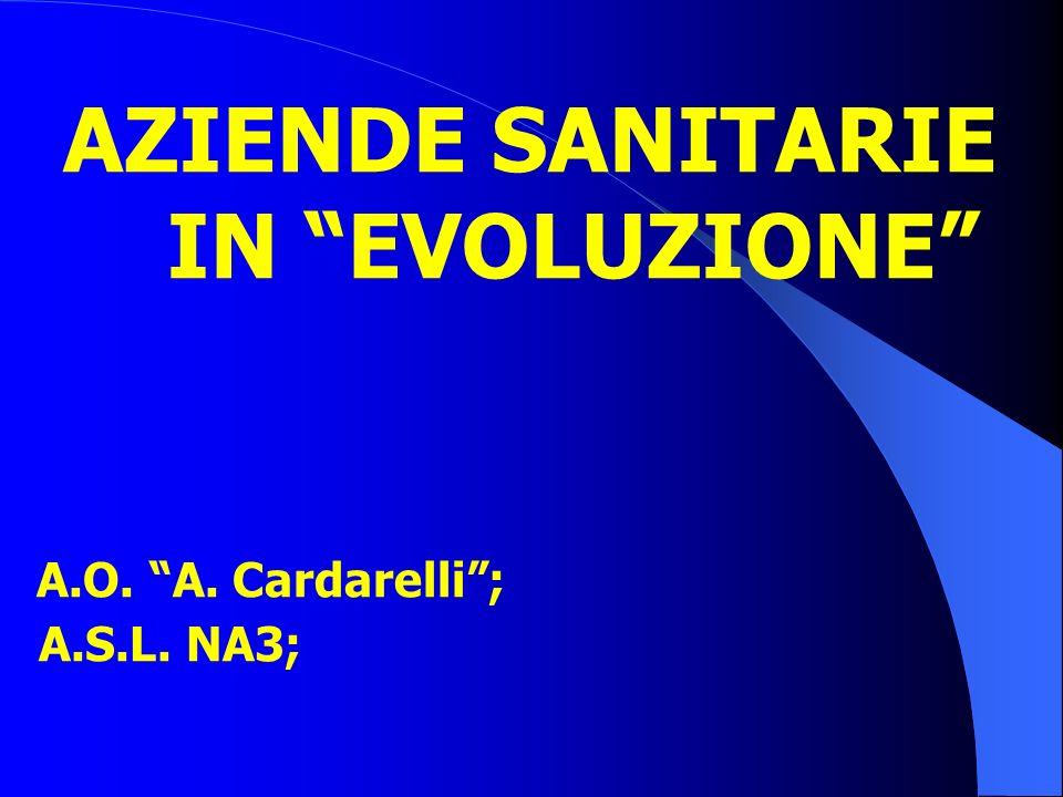 AZIENDE SANITARIE IN EVOLUZIONE A.O. A. Cardarelli ; A.S.L. NA3;