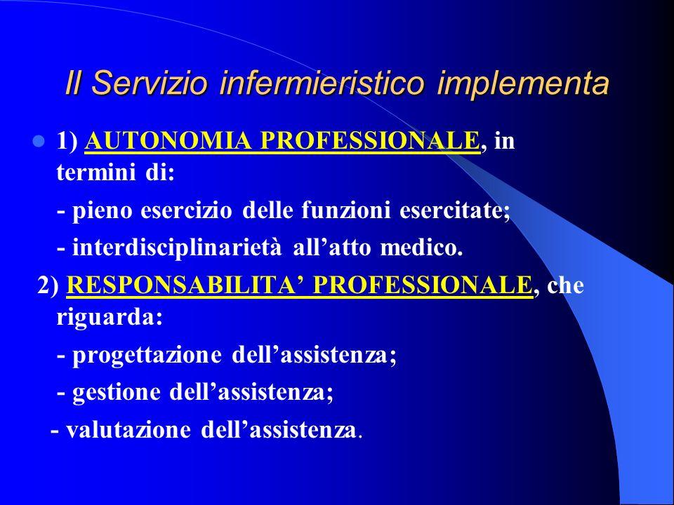 Il Servizio infermieristico implementa