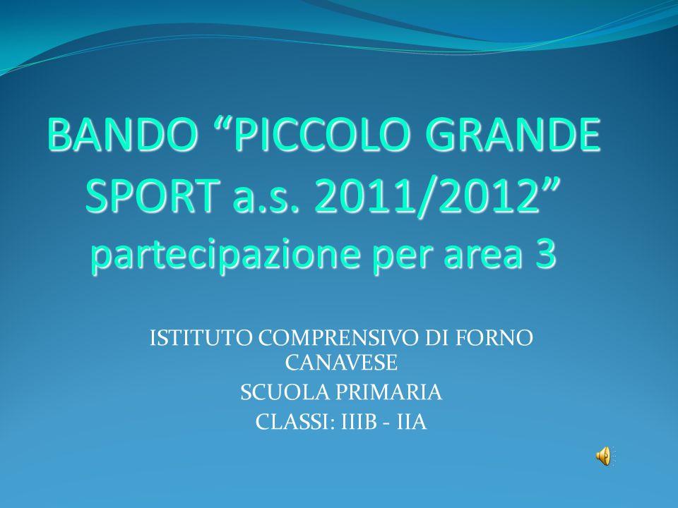 BANDO PICCOLO GRANDE SPORT a.s. 2011/2012 partecipazione per area 3