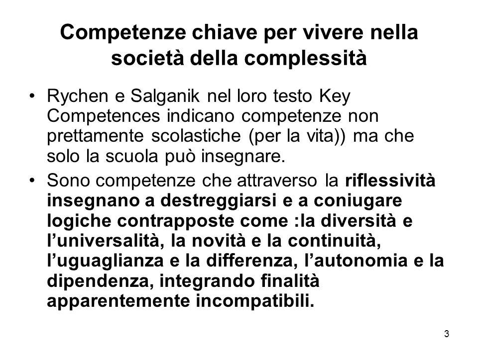 Competenze chiave per vivere nella società della complessità