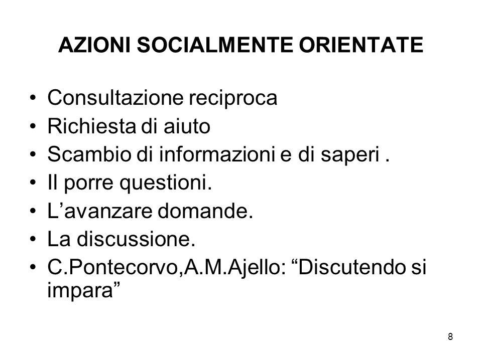 AZIONI SOCIALMENTE ORIENTATE