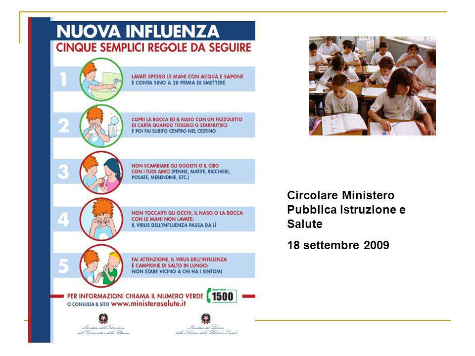 Circolare Ministero Pubblica Istruzione e Salute