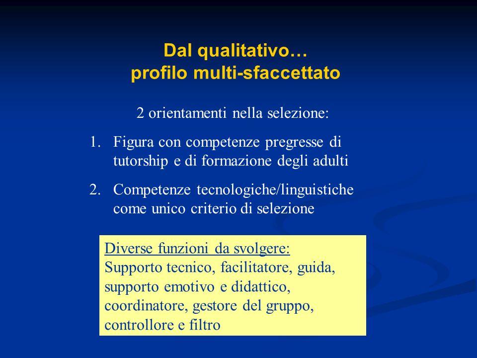 Dal qualitativo… profilo multi-sfaccettato