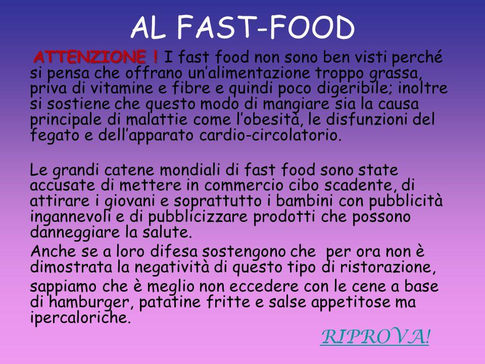 AL FAST-FOOD