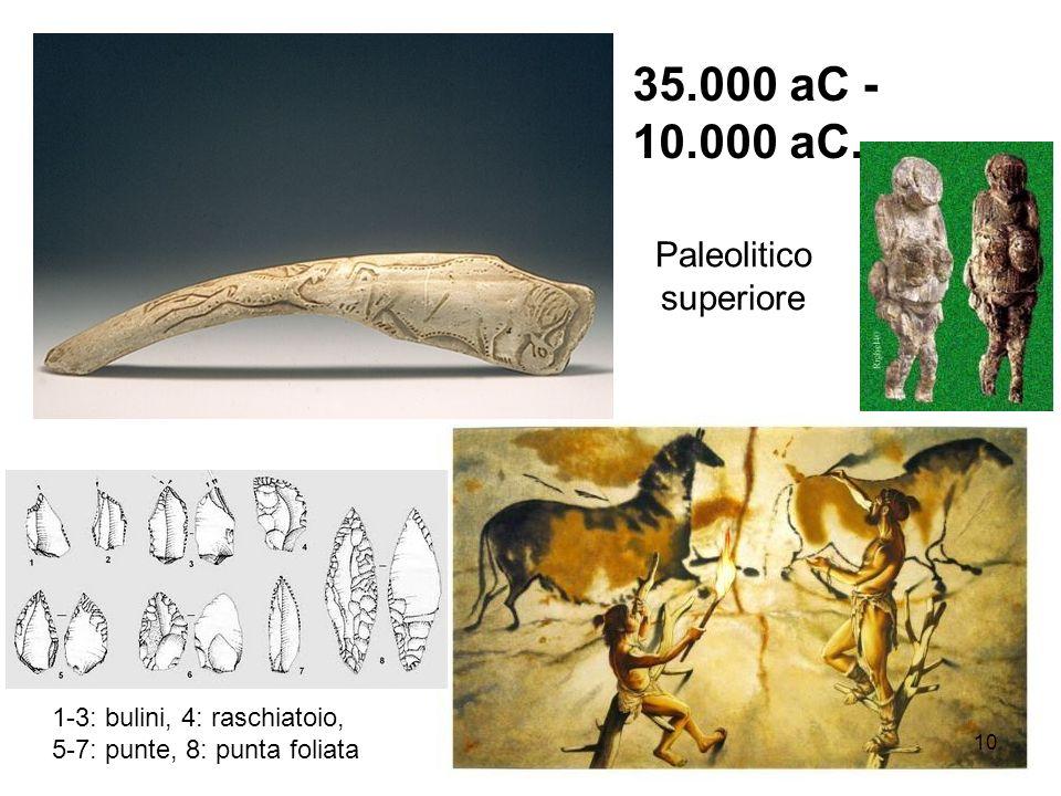 35.000 aC - 10.000 aC. Paleolitico superiore