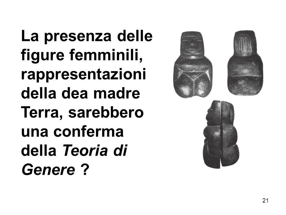 La presenza delle figure femminili, rappresentazioni della dea madre Terra, sarebbero una conferma della Teoria di Genere