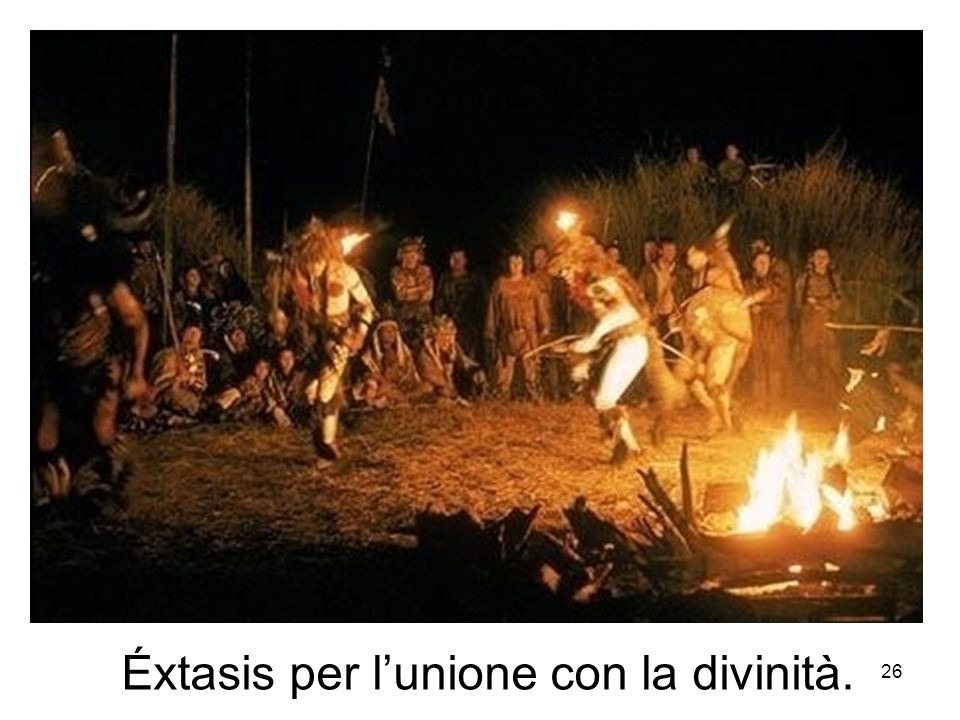 Éxtasis per l'unione con la divinità.