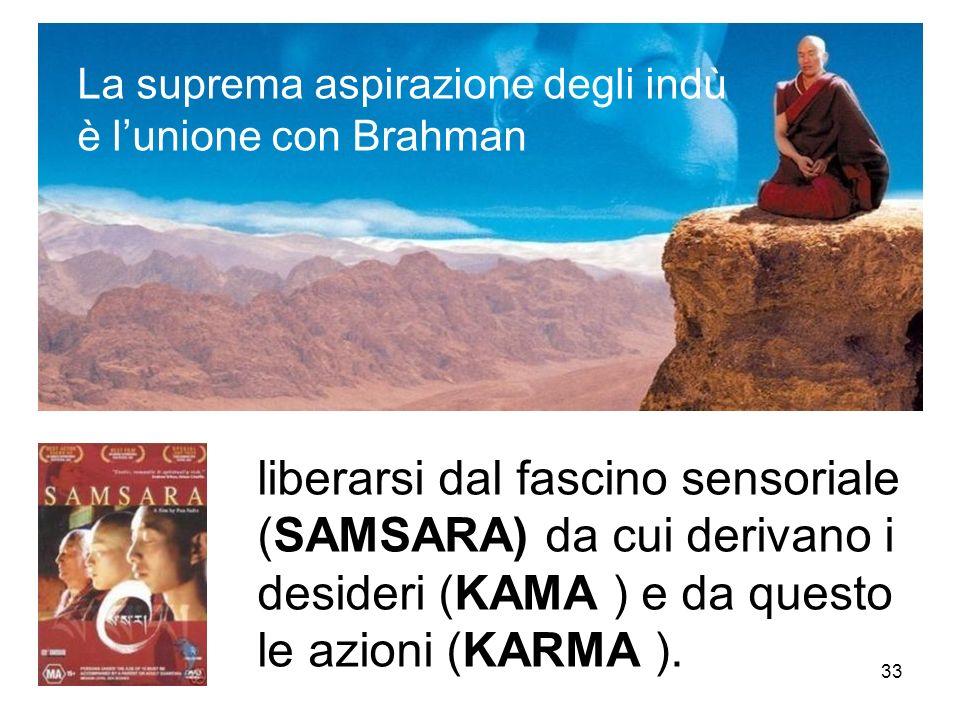 La suprema aspirazione degli indù è l'unione con Brahman