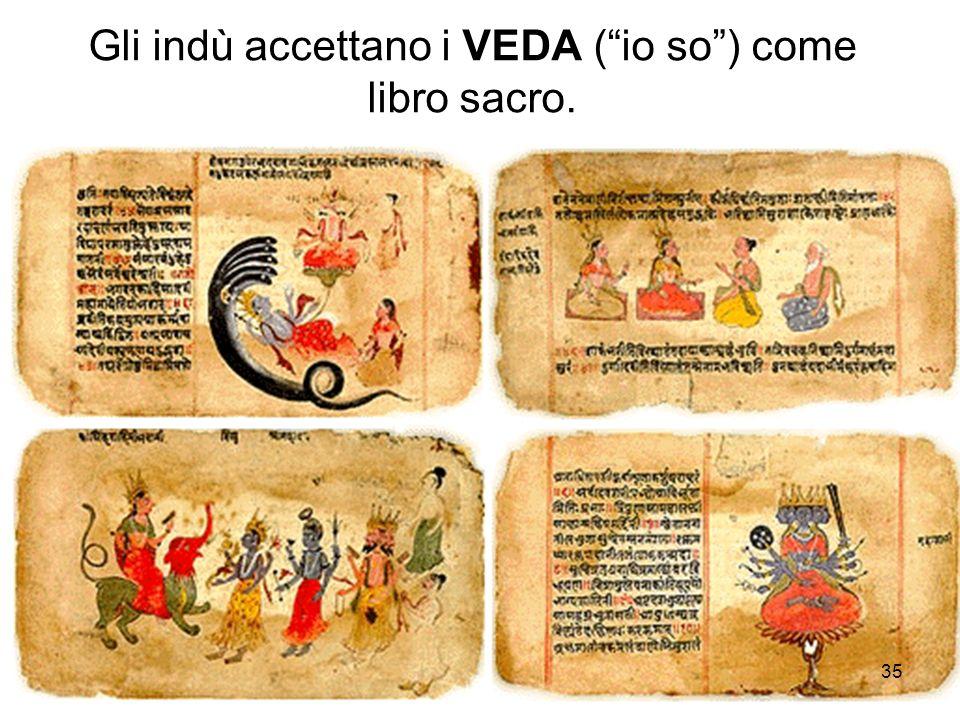 Gli indù accettano i VEDA ( io so ) come libro sacro.