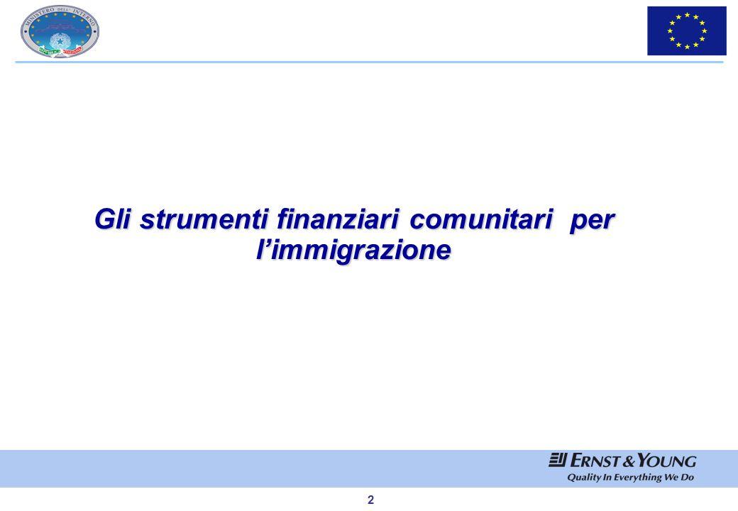 Gli strumenti finanziari comunitari per l'immigrazione