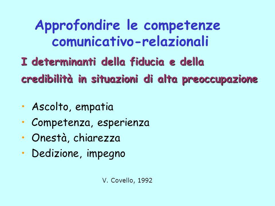 Approfondire le competenze comunicativo-relazionali