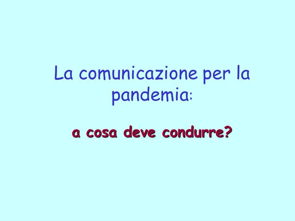 La comunicazione per la pandemia: a cosa deve condurre
