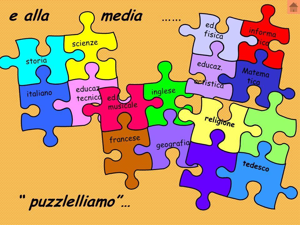 e alla media …… puzzlelliamo … informa ed. tica fisica scienze