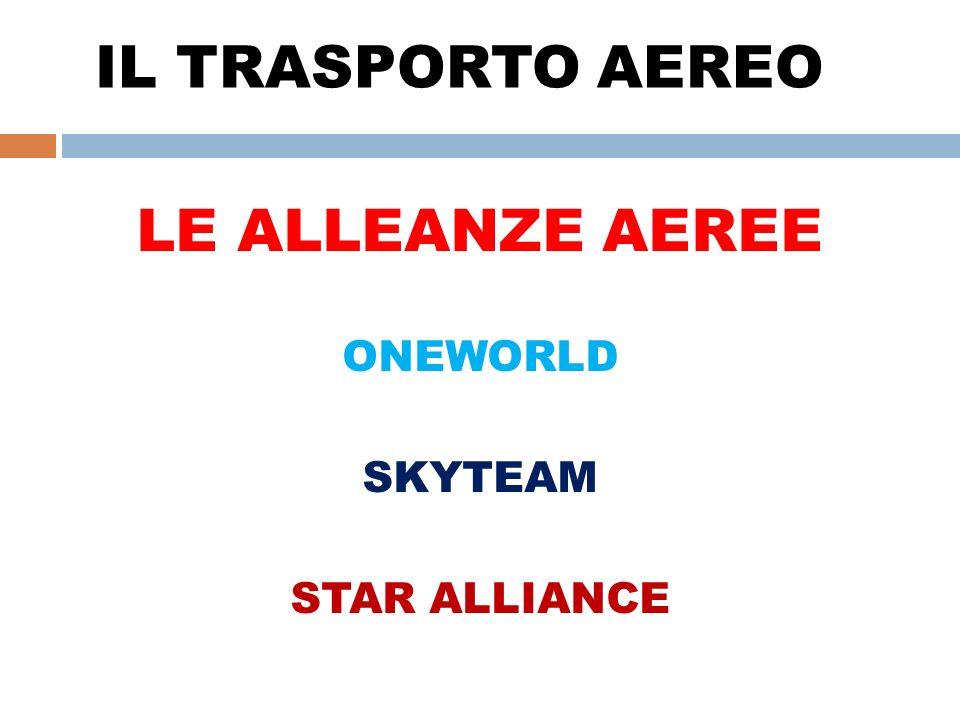 IL TRASPORTO AEREO LE ALLEANZE AEREE ONEWORLD SKYTEAM STAR ALLIANCE
