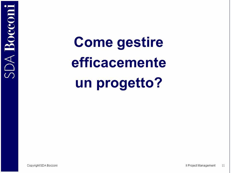 Come gestire efficacemente un progetto