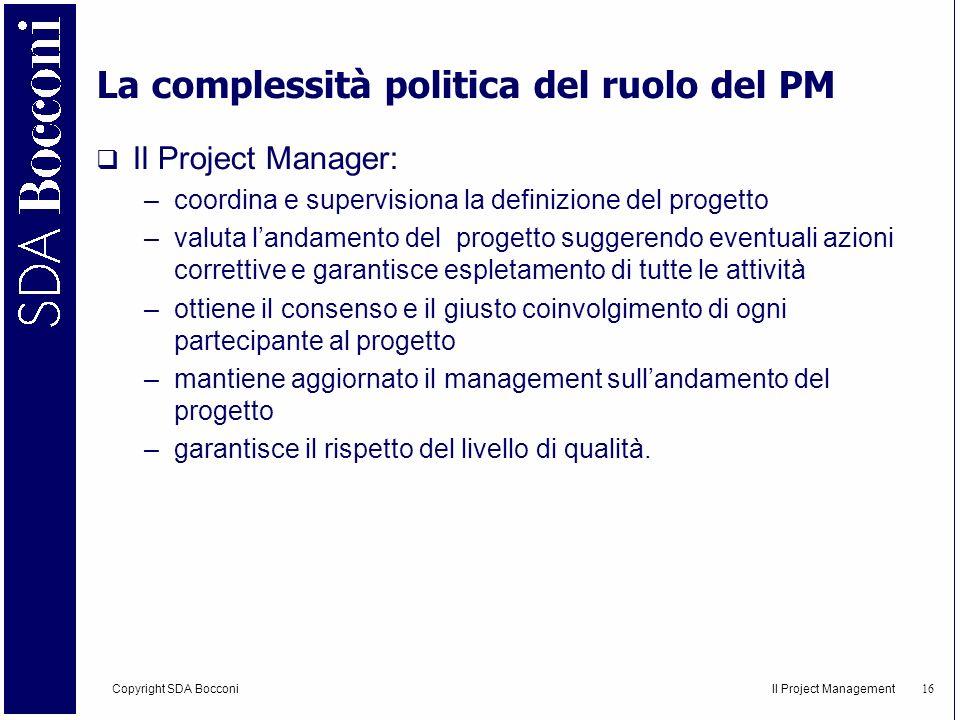 La complessità politica del ruolo del PM