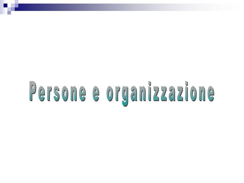 Persone e organizzazione