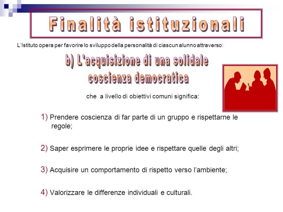 Finalità istituzionali