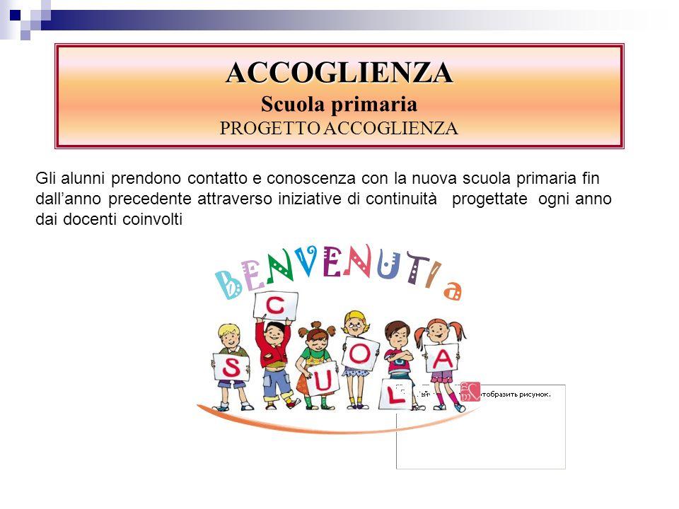 ACCOGLIENZA Scuola primaria PROGETTO ACCOGLIENZA