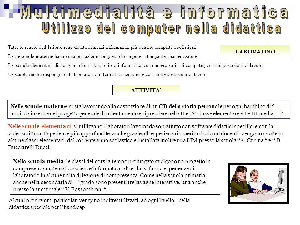 Multimedialità e informatica Utilizzo del computer nella didattica