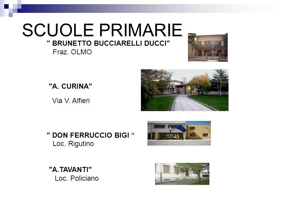 SCUOLE PRIMARIE BRUNETTO BUCCIARELLI DUCCI Fraz. OLMO A. CURINA