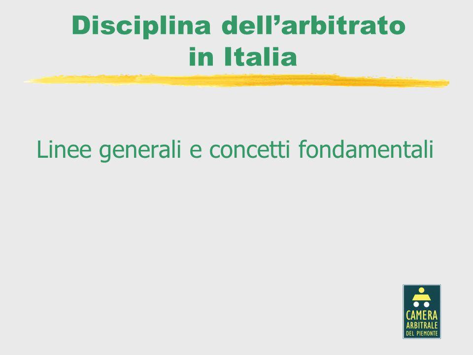 Disciplina dell'arbitrato in Italia