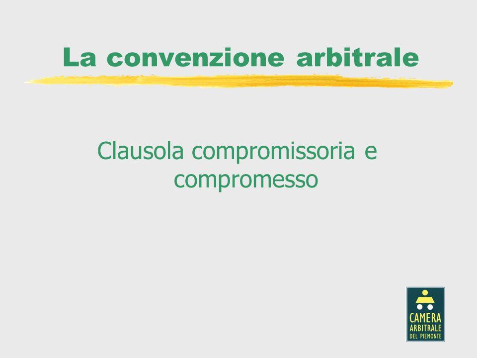 La convenzione arbitrale