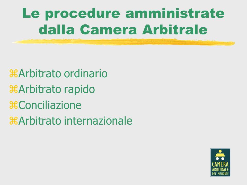 Le procedure amministrate dalla Camera Arbitrale