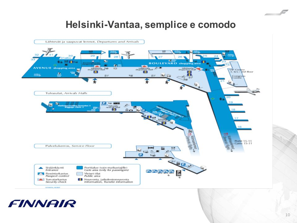 Helsinki-Vantaa, semplice e comodo