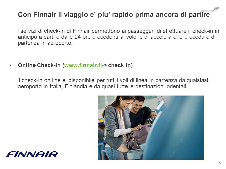 Con Finnair il viaggio e' piu' rapido prima ancora di partire
